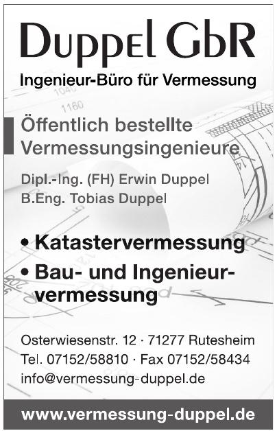 Duppel GbR Ingenieur-Büro für Vermessung