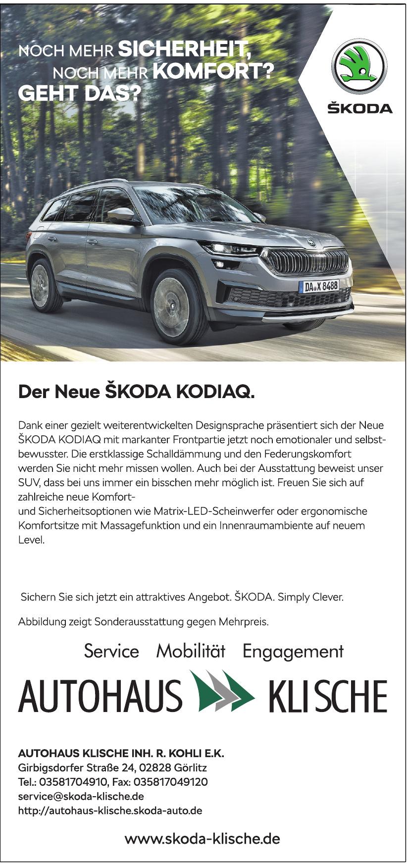 Autohaus Klische Inh. R. Kohli E.K.