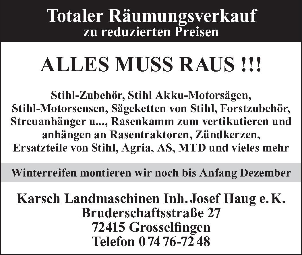 Karsch Landmaschinen Inh. Josef Haug e. K.
