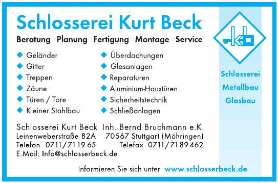 Schlosserei Kurt Beck