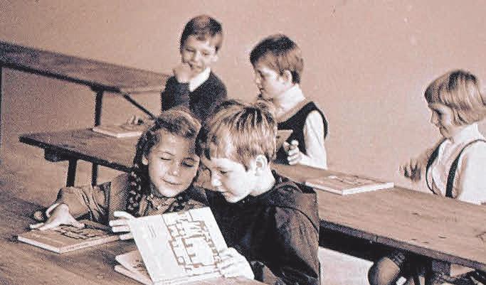 Der Unterricht in den Anfangsjahren.FOTO: GWRS ST. KONRAD