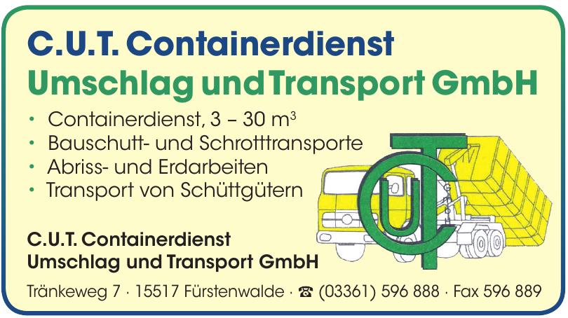 C.U.T. Containerdienst Umschlag und Transport GmbH