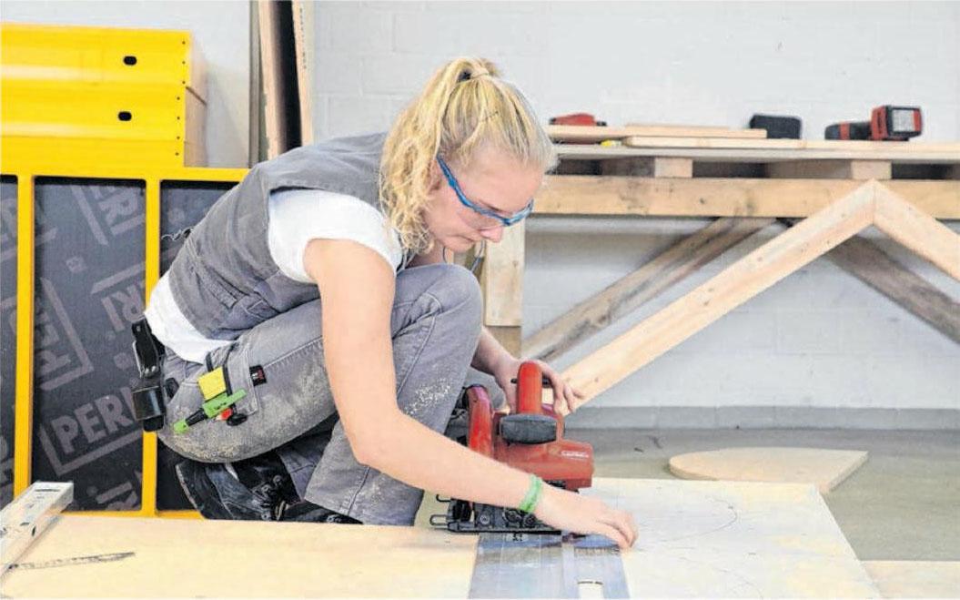 Jule Janson aus Mühlacker wurde 2019 Deutsche Meisterin in der Kategorie Beton- und Stahlbetonbau. Foto: ZDB