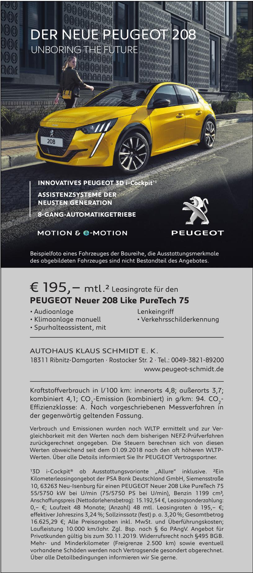 Autohaus Klaus Schmidt E. K .