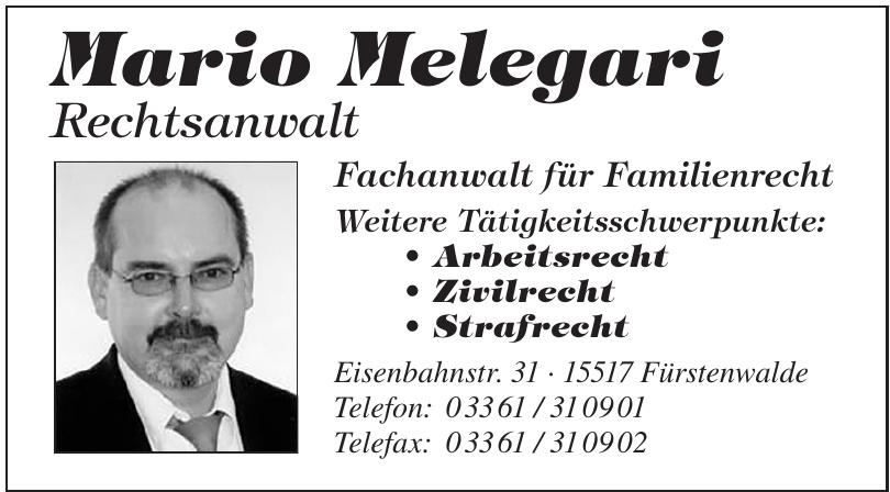 Mario Melegari Rechtsanwalt