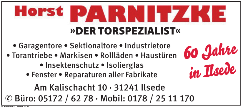 Horst Parnitzke - Der Torspezialist