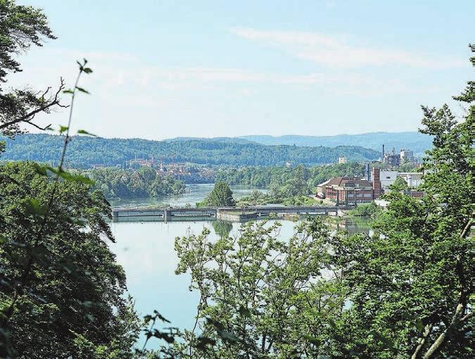Ziel in Sicht: nach 20 Wanderkilometern von Bad Säckingen nach Rheinfelden.