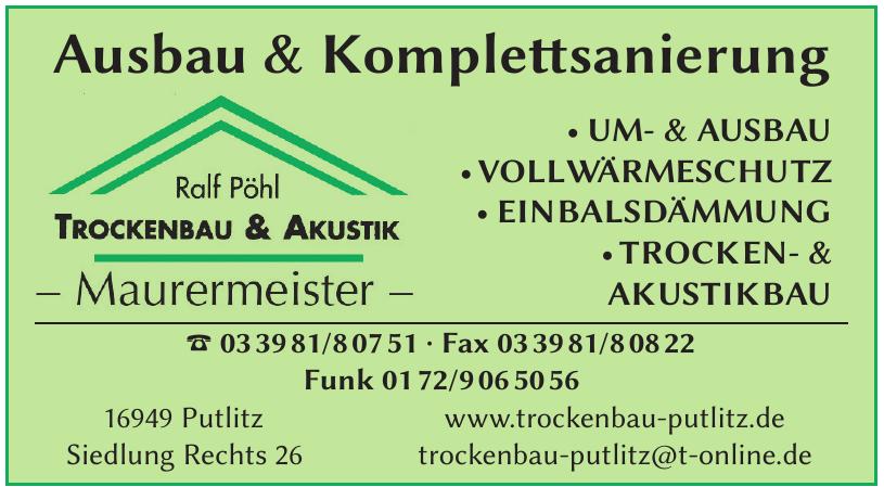 Ralf Pöhl Maurermeister