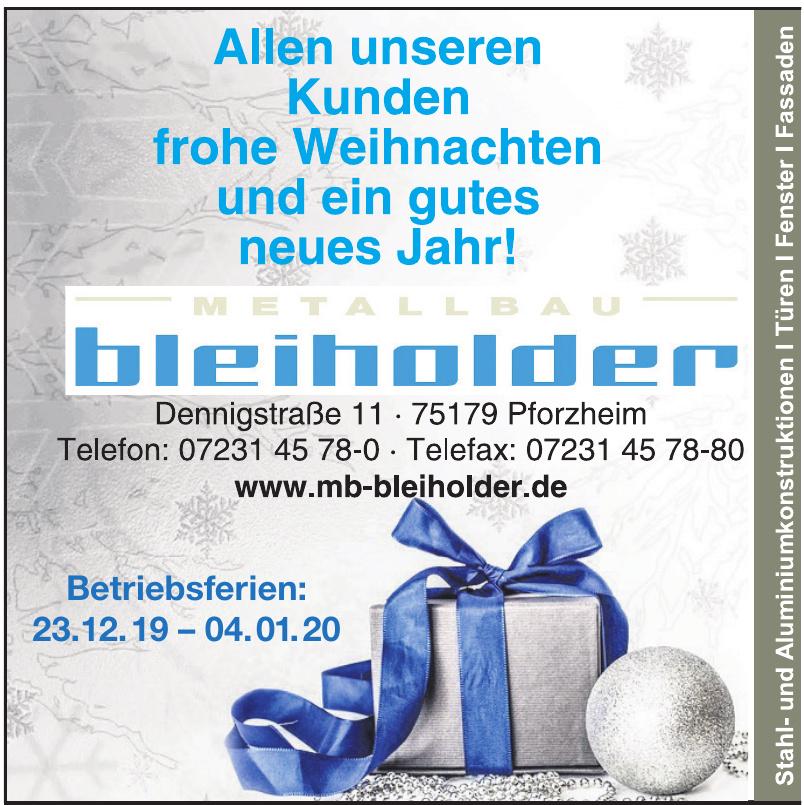 Metallbau Bleiholder