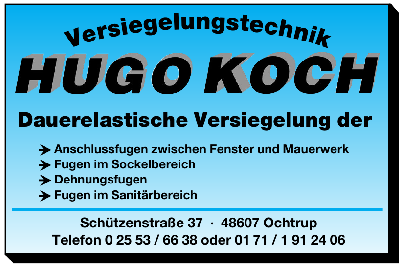 Versiegelungstechnik Hugo Koch