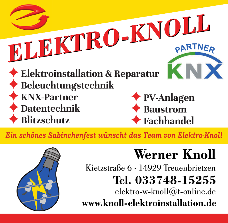 Elektromeister Werner Knoll
