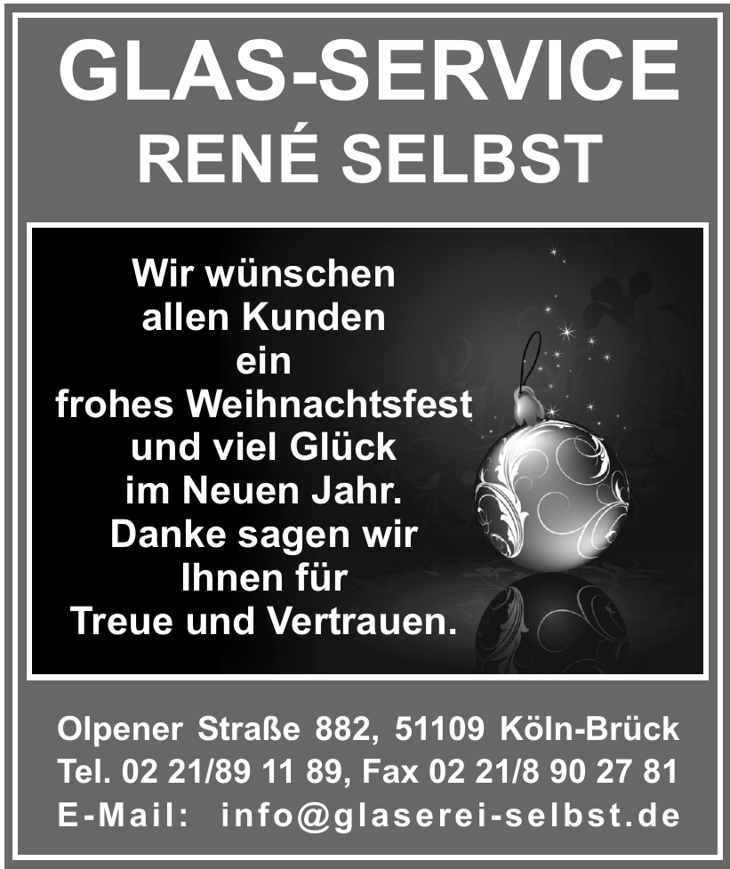 Glas-Service René Selbst
