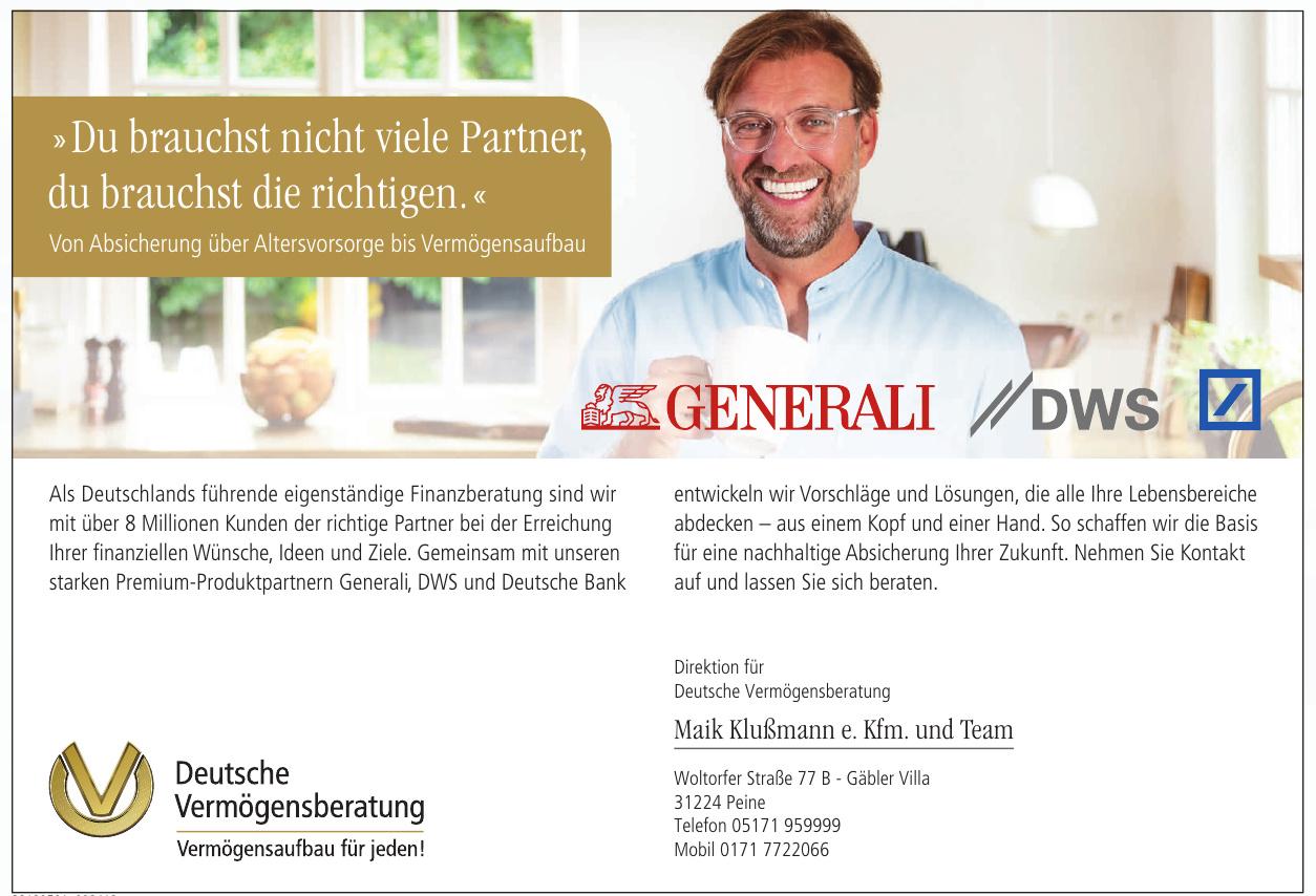 Deutsche Vermögensberatung - Maik Klußmann e. Kfm. und Team