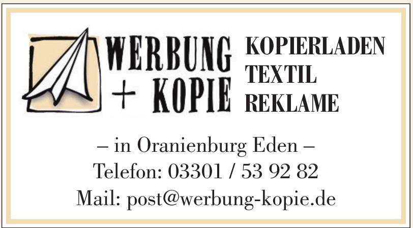 Werbung + Kopie