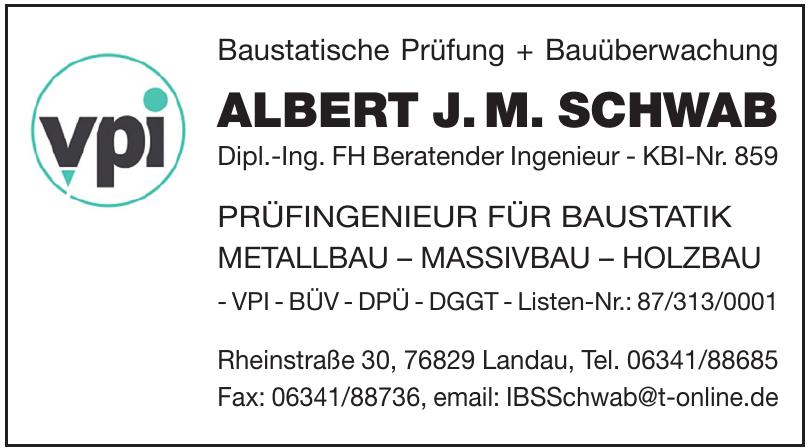 Baustatische Prüfung + Bauüberwachung Albert J. M. Schwab