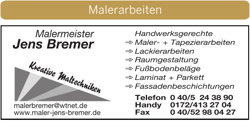 Malermeister Jens Bremer
