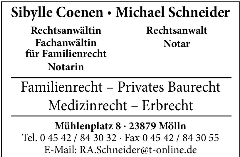 Sibylle Coenen + Michael Schneider Rechtsanwalt
