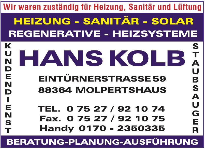 Hans Kolb