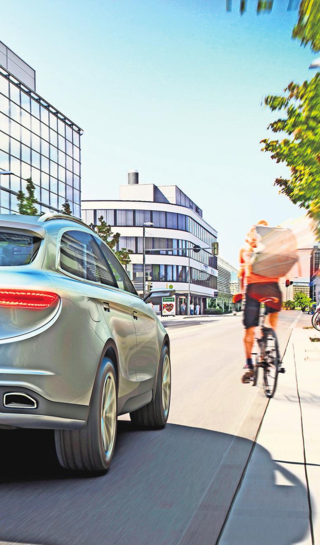 Mehr Sicherheit – auch für Radfahrer. Foto: z/djd/Bosch