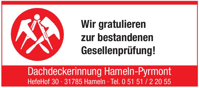 Dachdeckerinnung Hameln-Pyrmont