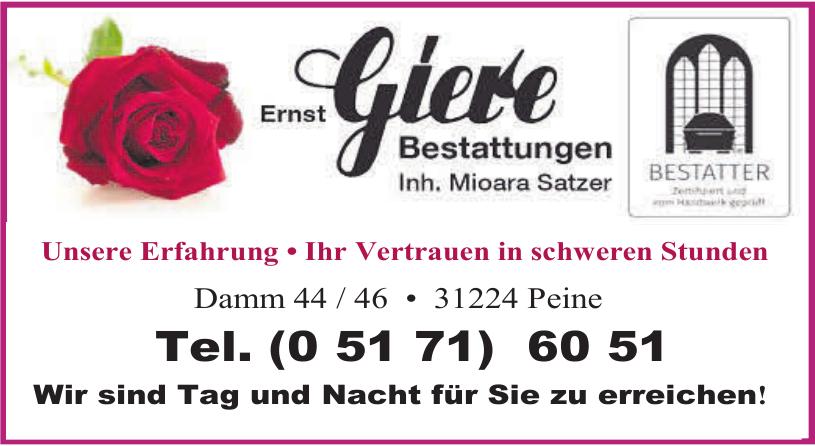 Ernst Giere Bestattungen