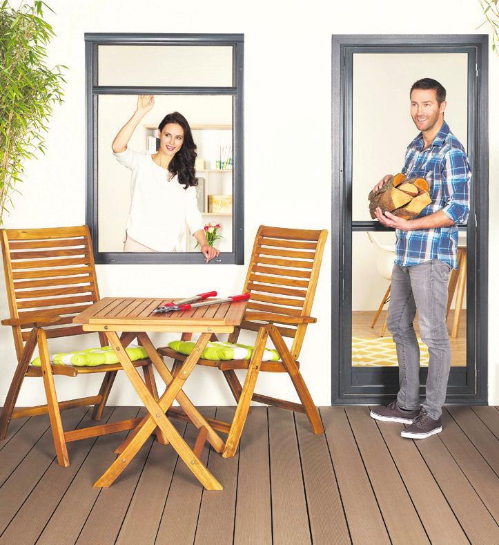 Praktisch und optisch schön angepasst: Insektenschutz für Fenster und Türen Foto: Trittec