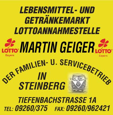 Lottoannahmestelle Martin Geiger
