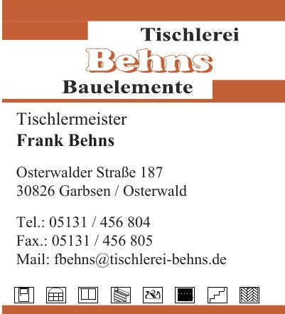 Tischlerei Behns Bauelemente