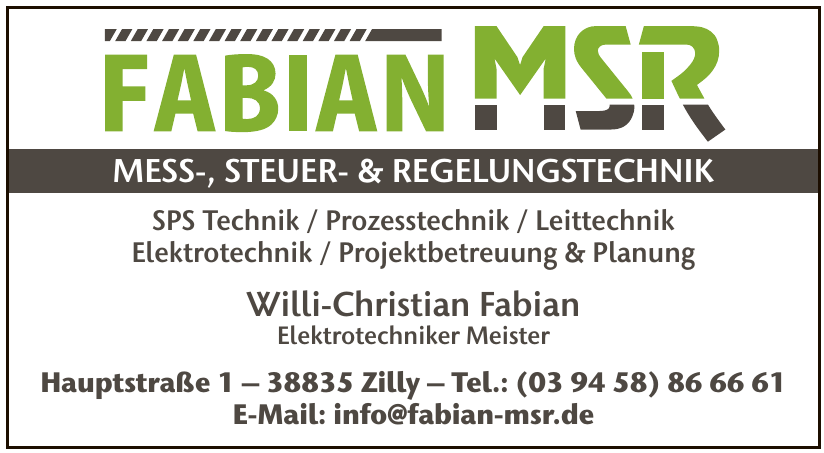 Fabian MSR Mess-, Steuer- & Regelungstechnik