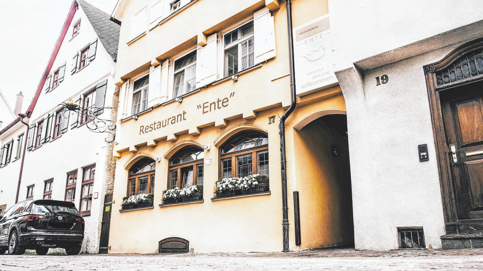 Das Gebäude der Ente in der Biberacher Gymnasiumstraße.