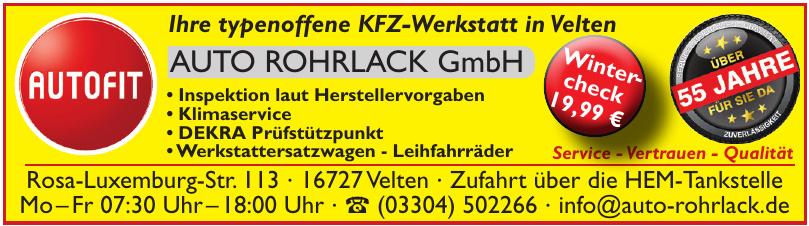 Auto Rohrlack GmbH