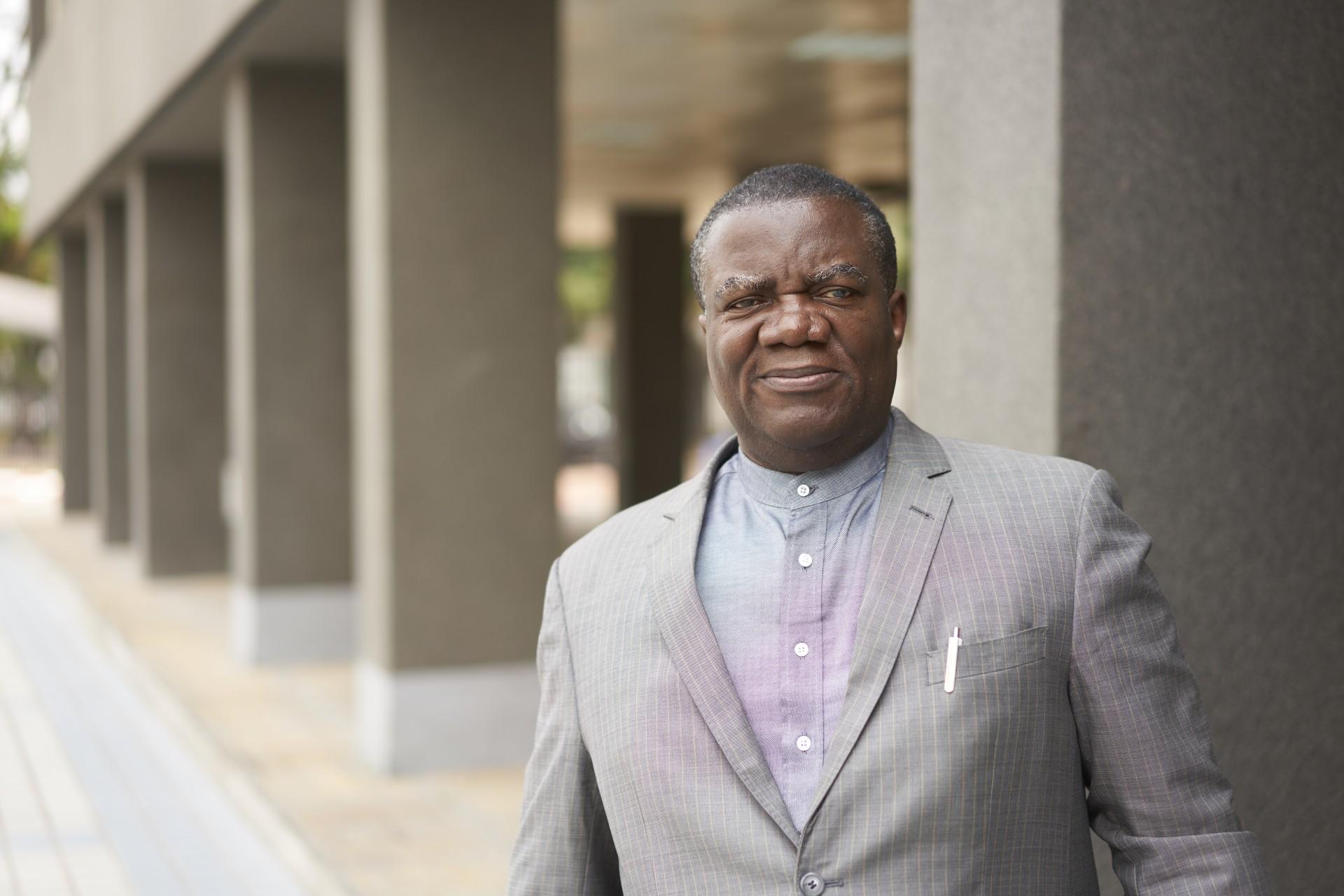 Richard Kapia Boshinga, Produktionsleiter<div>bei SNEL in der DR Kongo.</div>