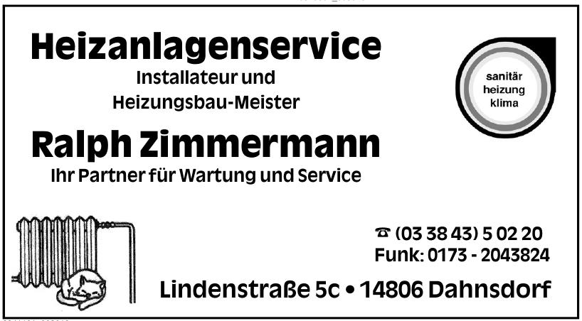 Heizanlagenservice Installateur und Heizungsbau-Meister Ralph Zimmermann