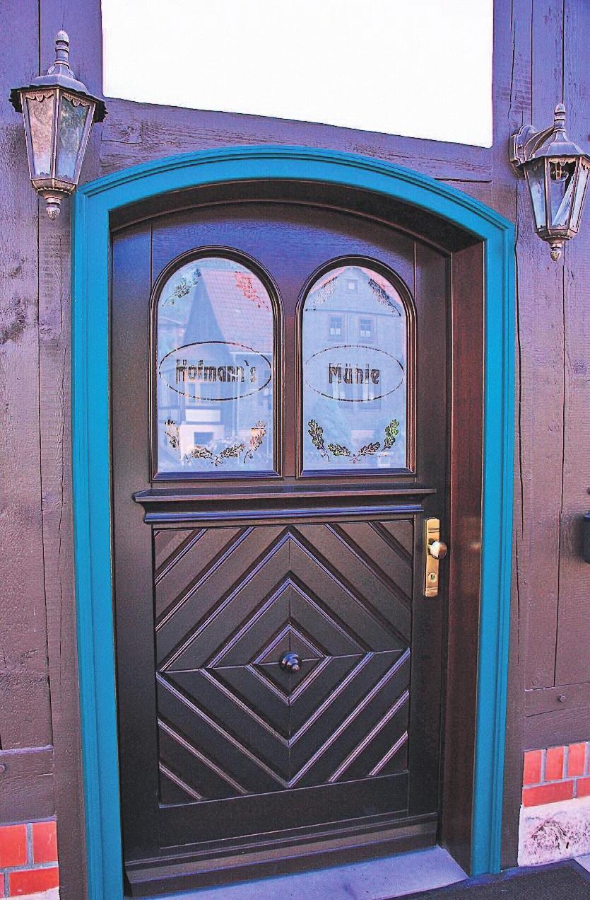 Die Eingangstür ist 1:1 dem Original nachempfunden worden.