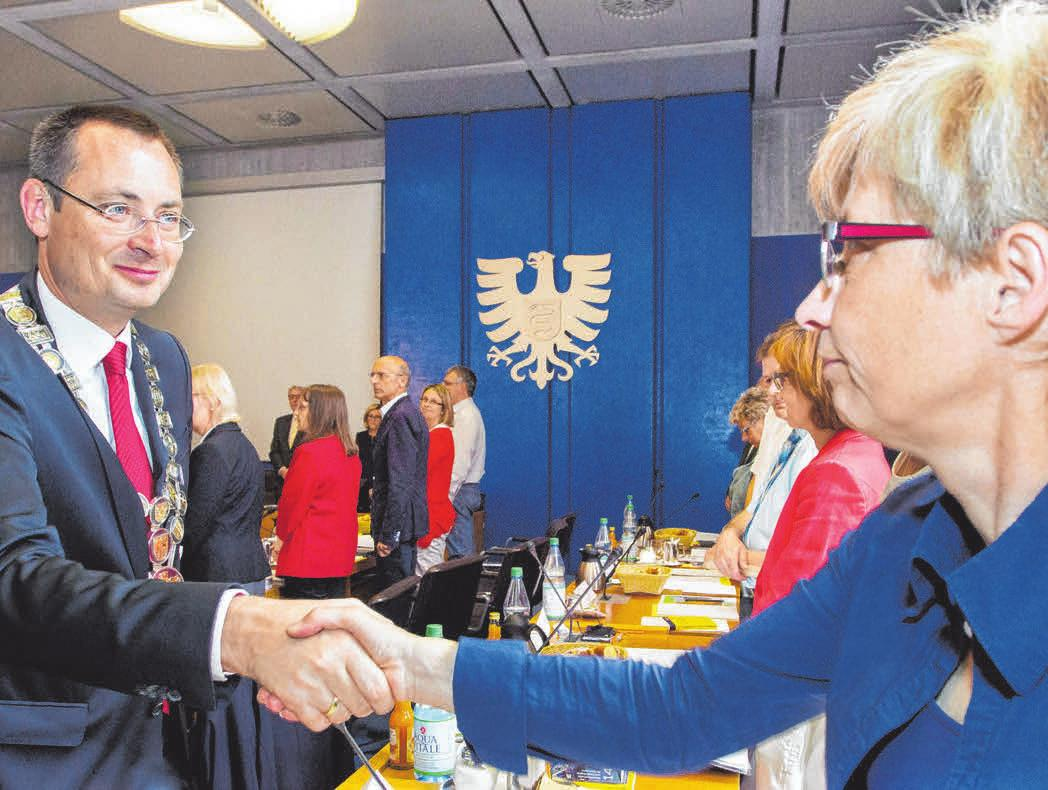 2013: Bei der Einsetzung des Gemeinderats FOTO: SIEDLER