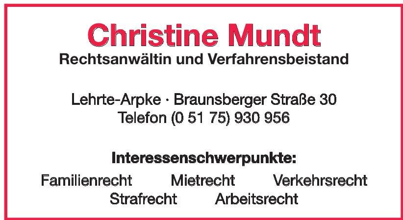 Christine Mundt Rechtsanwältin und Verfahrensbeistand