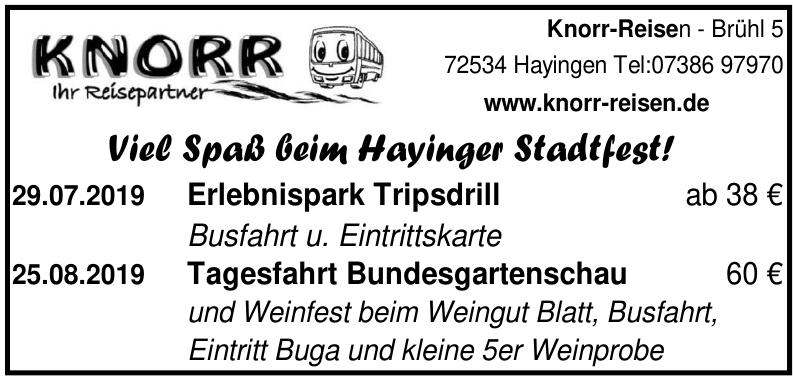 Knorr- Reisen