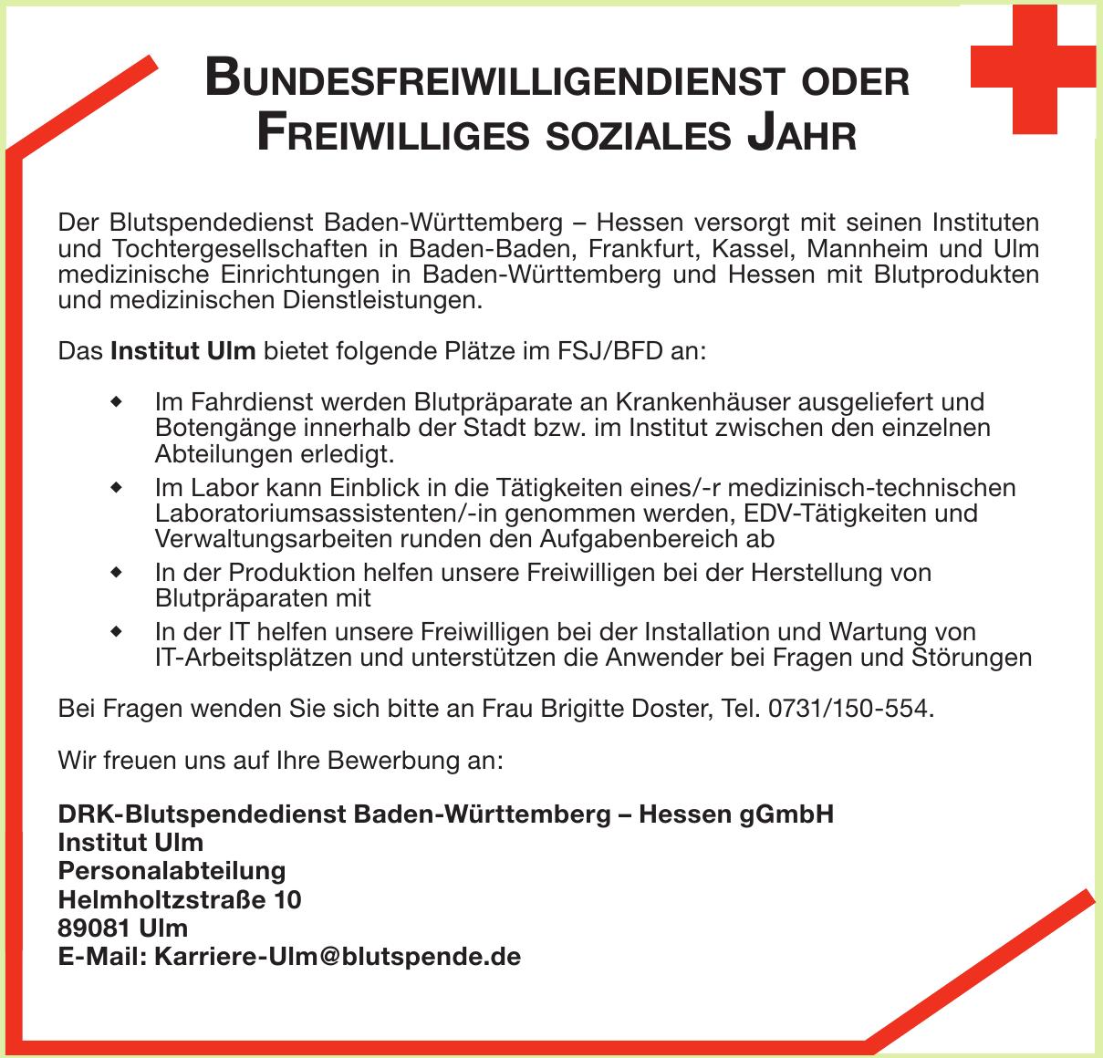 DRK-Blutspendedienst Baden-Württemberg – Hessen gGmbH