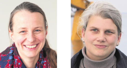 Diana Rechid (Climate Service Center, l.) und Insa Meinke (Norddeutsches Klimabüro) FOTO: GERICS /N. KELLER, HZG