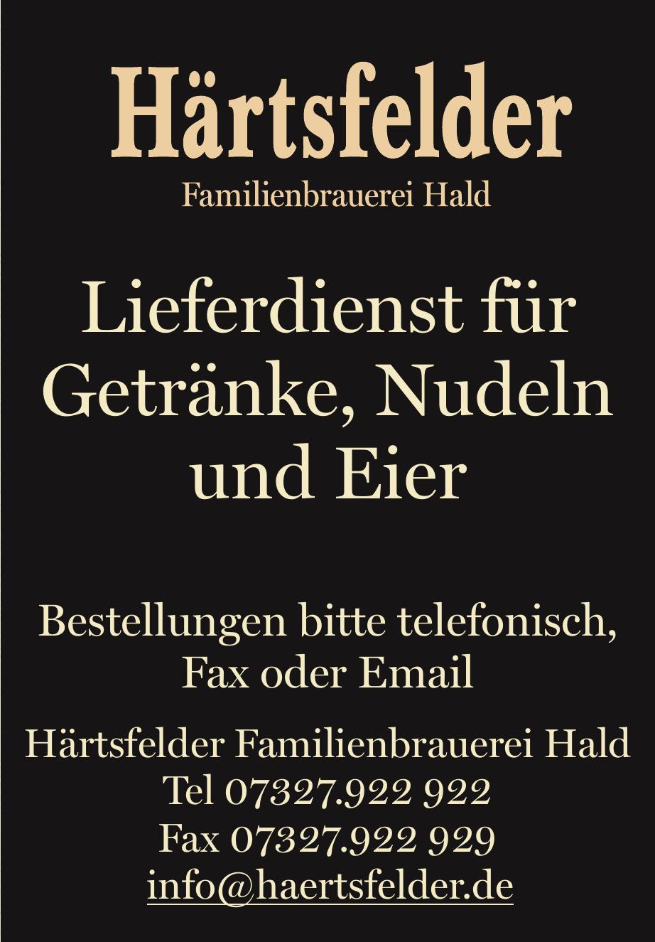 Härtsfelder Familienbrauerei Hald