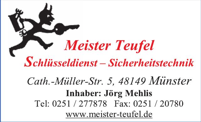 Meister Teufel-Schlüsseldienst / Sicherheitstechnik
