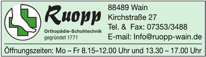 Ruopp Orthopädie-Schuhtechnik