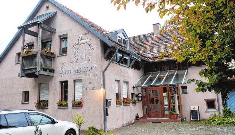 Der Landgasthof Hirsch im Grünen in Mehrstetten.   Fotos: Ralf Ott