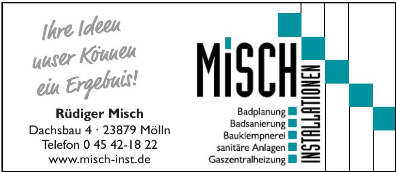 Misch Instalationen - Rüdiger Misch