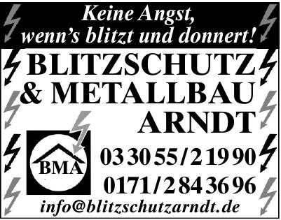 Blitzschutz & Metallbau Arndt