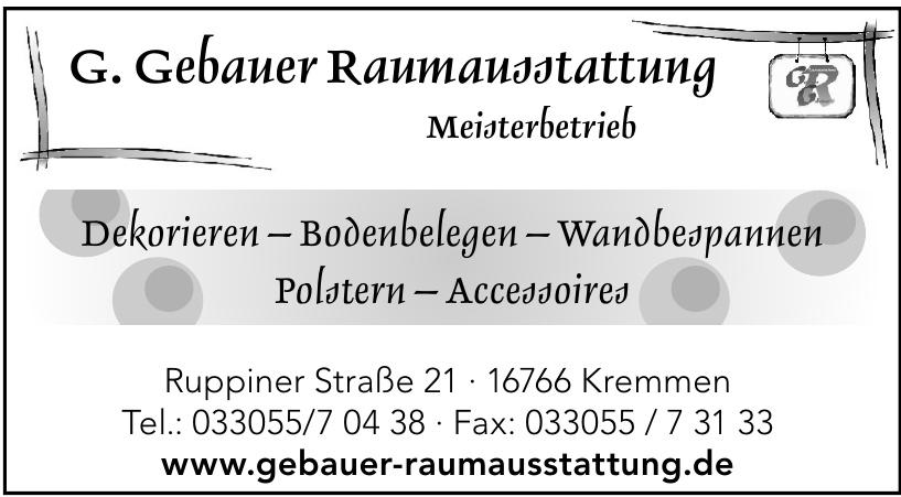 G. Gebauer Raumausstattung