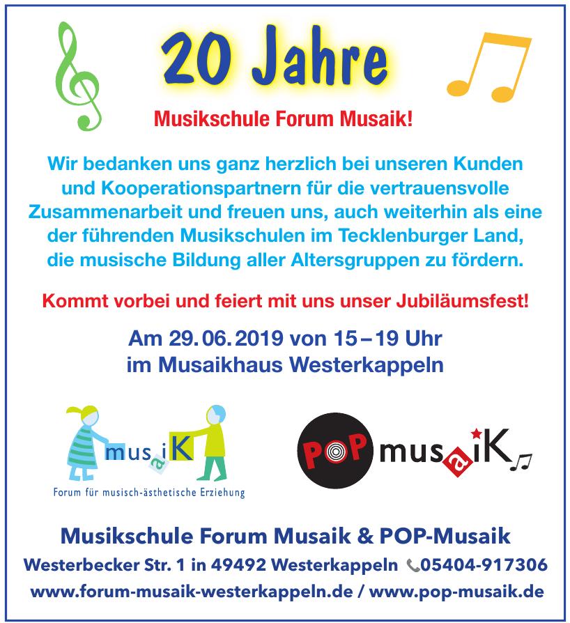 Musikschule Forum Musaik & POP-Musaik