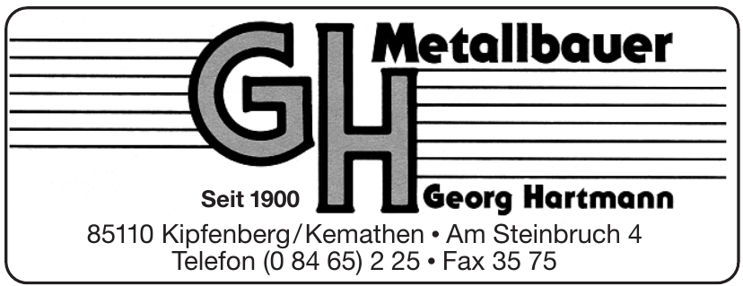 GH Metallbauer Georg Hartmann