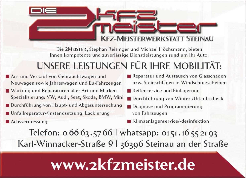 Die 2 Kfz Meister Kfz-Meisterwerkstatt Steinau Michael Höchsmann und Stephan Reisinger GbR