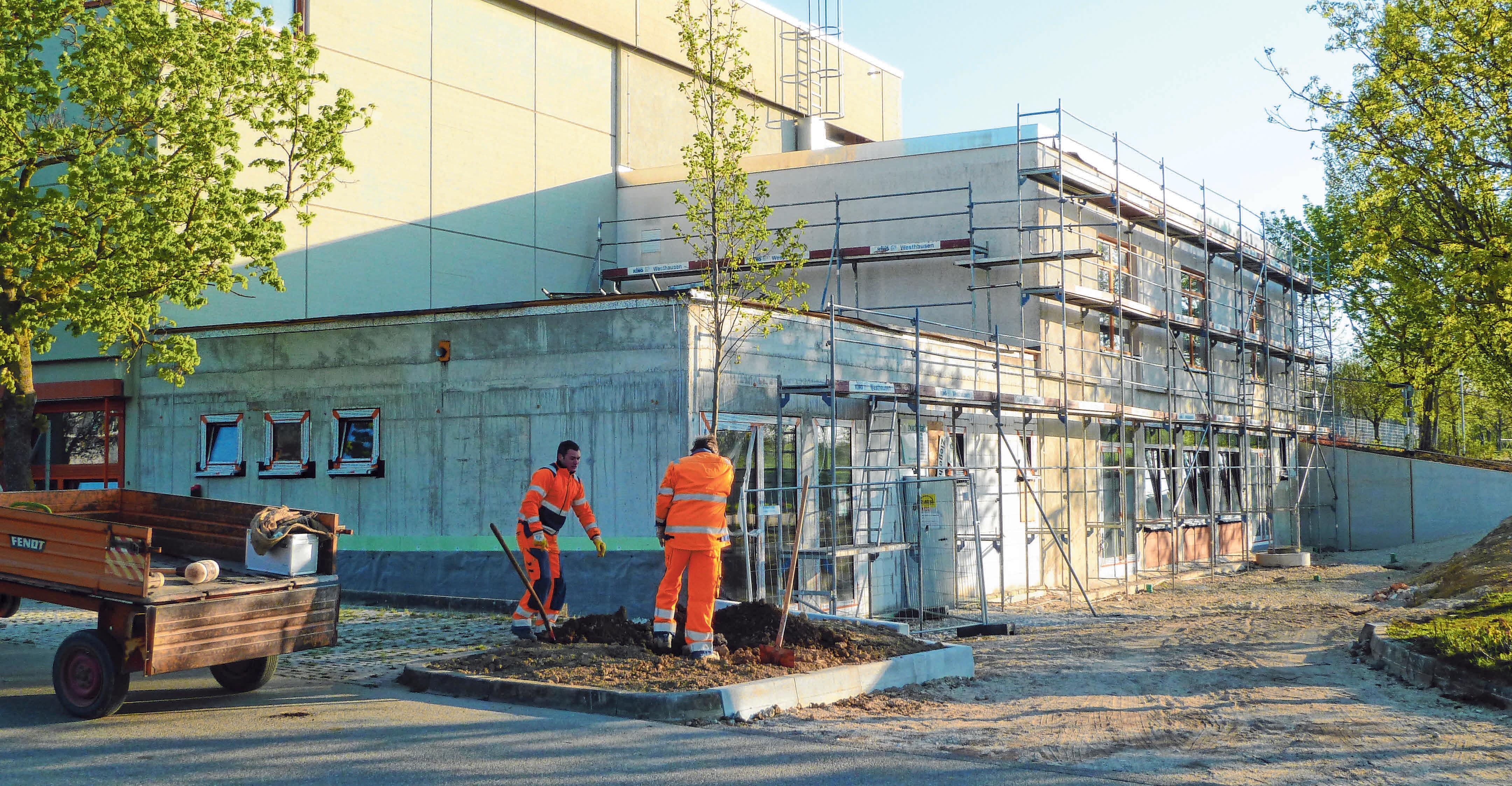 """An- und Umbau Vereinsgebäude im Sanierungsgebiet """"Neue Mitte"""" Unterschneidheim. FOTOS: GEMEINDE UNTERSCHNEIDHEIM"""